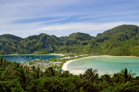 View of Phi Phi island from view point photo