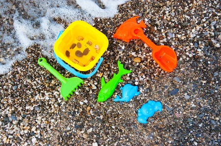 Beach toys near sea Stock Photo - 10430464