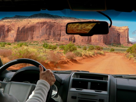 tribal park: Driving in Monument Valley, USA