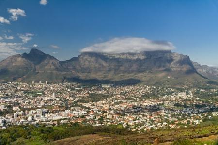 南アフリカ、ケープタウンとテーブル山の美しい景色 写真素材