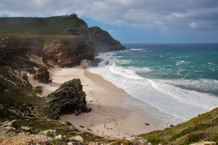 Beautiful Dias beach and nature, Cape of Good Hope, South Africa photo