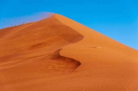 Krásné duny a povaha poušti Namib, Sossusvlei, Namíbie, Jižní Afrika
