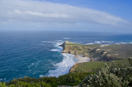 Beautiful view of Cape of Good hope and ocean, South Africa photo