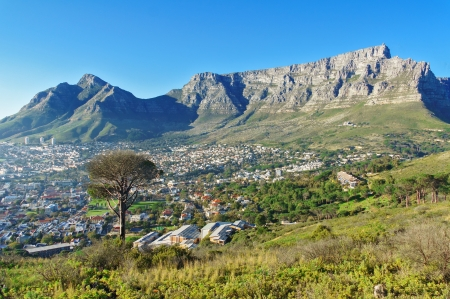 Beautiful view of Cape Town and Table Mountain, South Africa