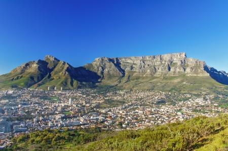 ケープタウンとテーブルマウンテン、南アフリカ共和国の美しい景色 写真素材