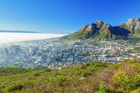 cape town: Beautiful view of Cape Town and Table Mountain, South Africa