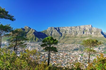 Krásný výhled na Kapské Město a Stolovou horu, Jižní Afrika