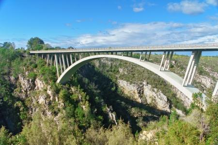 Most v národním parku Tsitsikamma, Garden Route, Jihoafrická republika Reklamní fotografie