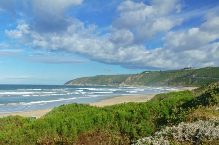 south coast: Beautiful ocean beach in South Africa Stock Photo