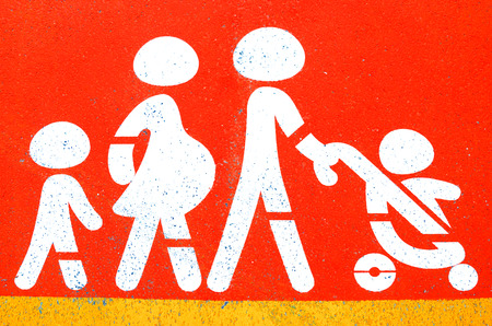 Family sign on parking photo