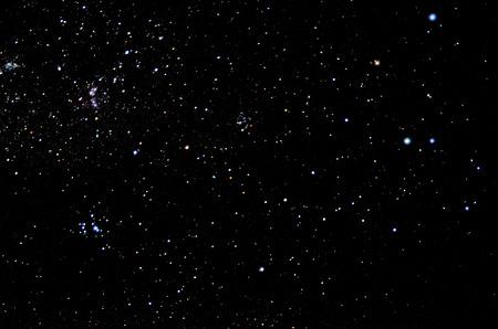 Stars and galaxy sky background Standard-Bild