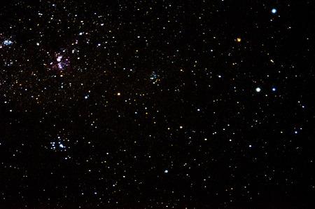 Sterren en sterrenstelsel ruimte hemel achtergrond