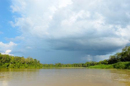 sandakan: Kinabatangan river, Malaysia, rainforest of Borneo island Stock Photo