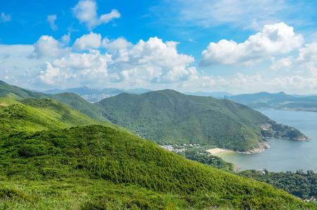 Hong Kong Trail schöne Aussicht und Natur, Drachen zurück Standard-Bild - 33869450