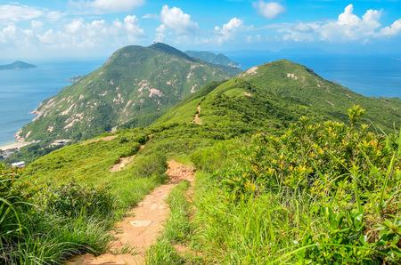 Hong Kong trail beautiful views and nature, Dragon\'s back Standard-Bild