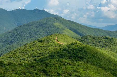jungle green: Trail Hong Kong hermosas vistas y la naturaleza, la espalda del drag�n