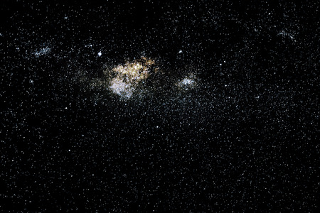 pleiades: Stars and galaxy space sky starry night background Stock Photo