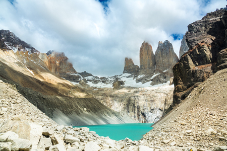 Beautiful mountain lake in national park Torres del Paine, landscape of Patagonia, Chile, South America Reklamní fotografie