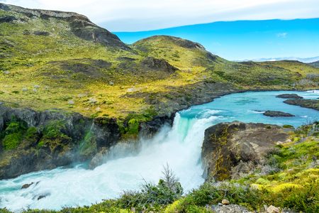Salto Grande waterfall in national park Torres del Paine, Patagonia, Chile, South America