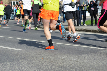 Marathon running race, many runners feet on road, sport, fitness and healthy lifestyle concept Reklamní fotografie