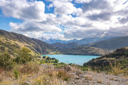Bertran lake and mountains beautiful landscape, Chile, Patagonia, South America