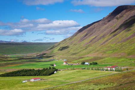 Beautiful Iceland mountain landscape in summer