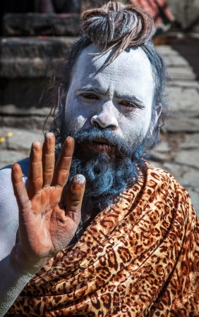 A sadhu at Kedharnath Temple Stock Photo - 18111943