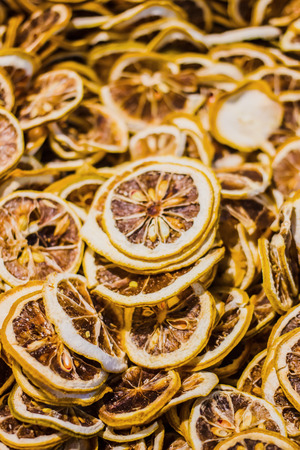 lemon slices: Dried lemon slices