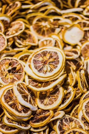 Gedroogde plakjes citroen Stockfoto