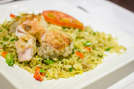 energy picture: Fried rice with chicken