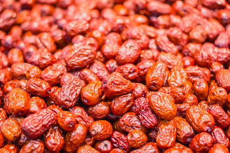 multiple objects: Red dates Stock Photo