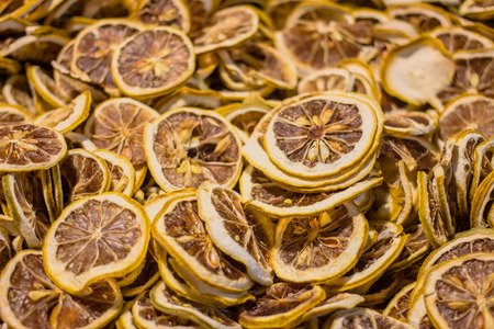 multiple objects: Dried lemon slices
