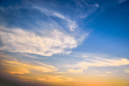 horizontal format horizontal: Blue sky and white clouds Stock Photo