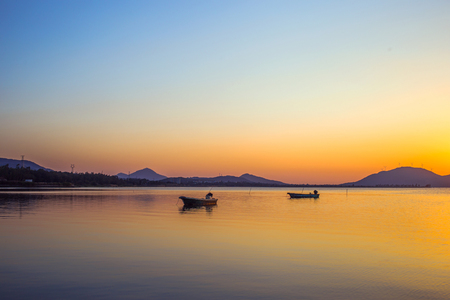 hailing: Hailing island of Yangjiang sunset scenery