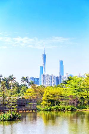 Haizhu lake view, Guangzhou