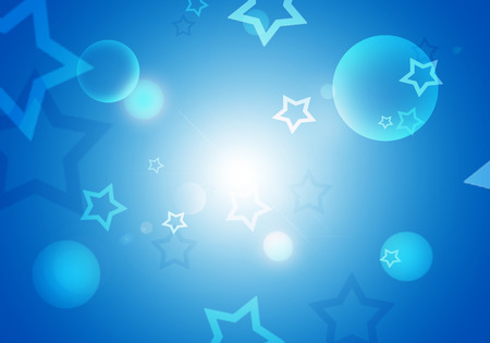stelle blu: Abstract background with blue stars flare and blank for text.