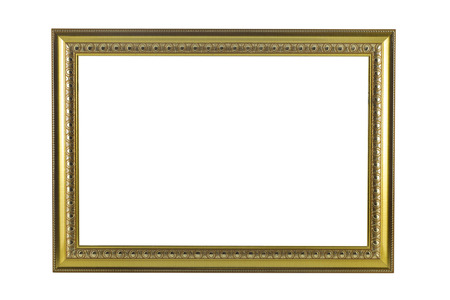 Bronze and Gold Frame vintage isolated on white background. photo