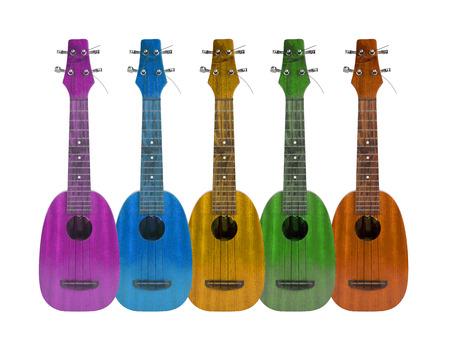 ukelele: Ukulele music instrument on the white background Stock Photo