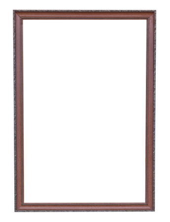 Bronze copper and Old Frame vintage isolated on white background. photo