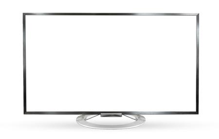 Television monitor isolated on white background.