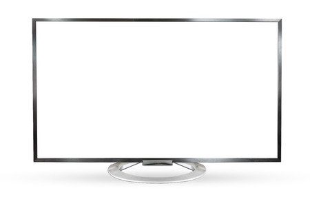 Television monitor isolated on white background.