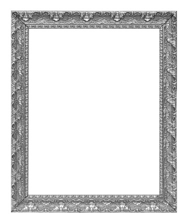 The antique silver vintage isolated white background. 版權商用圖片