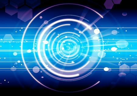 Abstracte Achtergrond Lens toekomst Blue flare-technologie. Stockfoto - 41632403