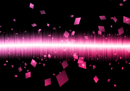 soundwave: Abstract pink soundwave rectangle soundwave isolated black galaxy.