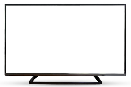 watching television: Television sky or monitor landscape isolated on white background.