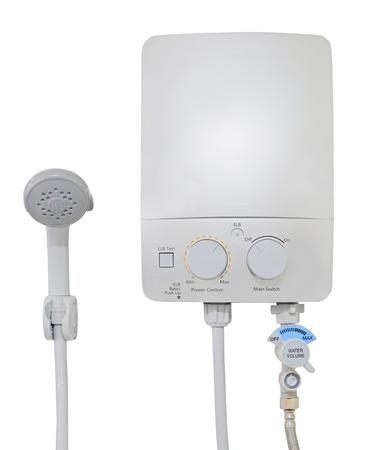 Water heater isolated white background. Stockfoto