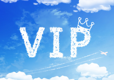 important people: Cloud text : Very Important People (VIP) on the sky. Stock Photo