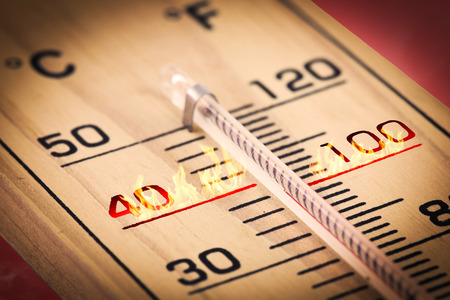 Close-up Hot temperature fahrenheit or celsius.