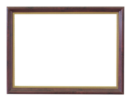Wooden frame vintage isolated background. Stockfoto