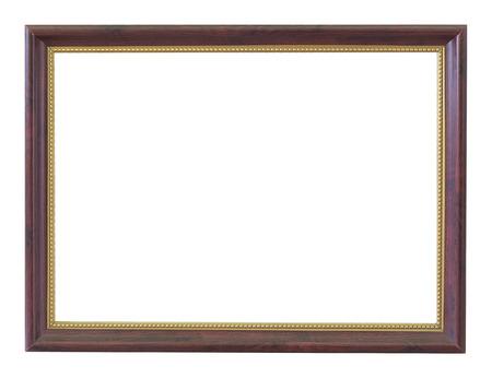 Wooden frame vintage isolated background. 版權商用圖片